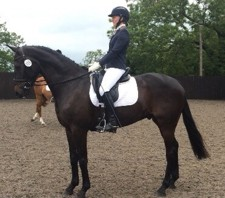 Emma and Monbeg Eclipse at a dressage show